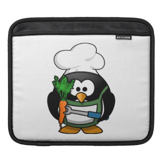 Vegetarian Penguin Chef Sleeve For iPads