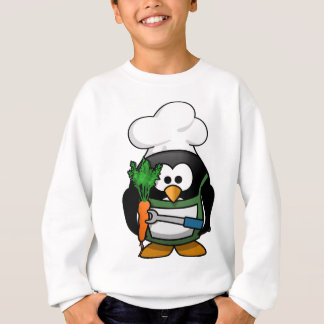 Vegetarian Penguin Chef - Veggie Cook Sweatshirt