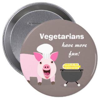 Vegetarian Pig Button