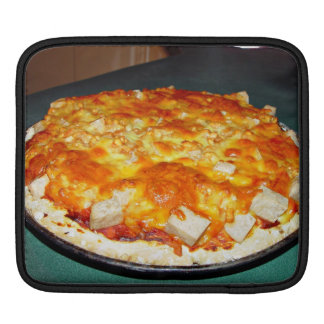 vegetarian pizza with beans, chunks of nutolene sleeves for iPads