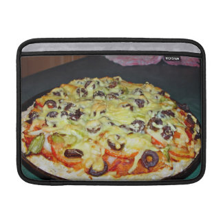 vegetarian pizza, with olives and capsicum MacBook air sleeve