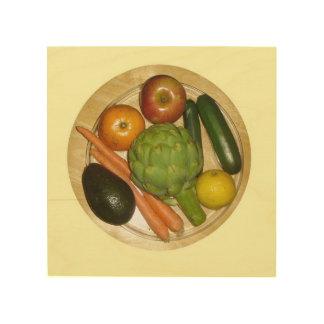 Vegetarian Plate Wood Wall Art