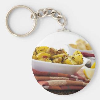 Vegetarian Potato Dish Keychain