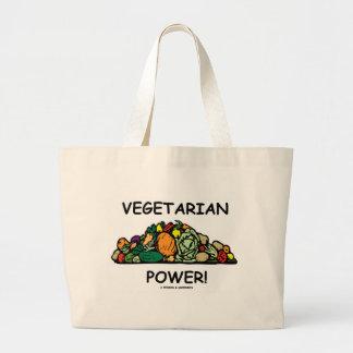 Vegetarian Power! (Vegetarian Humor) Canvas Bags