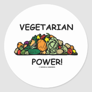 Vegetarian Power! (Vegetarian Humor) Stickers