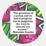 Vegetarian Quote Classic Round Sticker