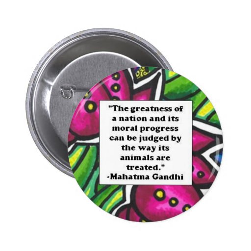 Vegetarian Quote Pinback Button