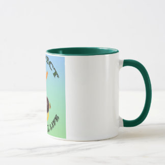 Vegetarian rabbit colorful background mug
