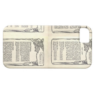 Vegetarian Recipe from a Vintage Cookbook iPhone 5 Cases