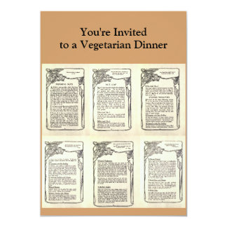 Vegetarian Recipe from a Vintage Cookbook Personalized Announcements