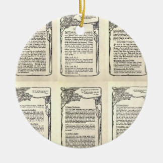 Vegetarian Recipe from a Vintage Cookbook Christmas Ornament