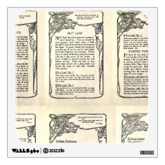 Vegetarian Recipe from a Vintage Cookbook Wall Decal