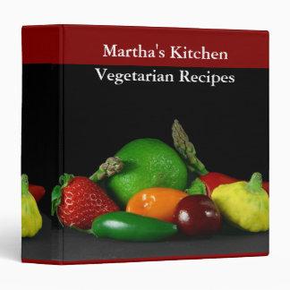 Vegetarian Recipes Medium Binder