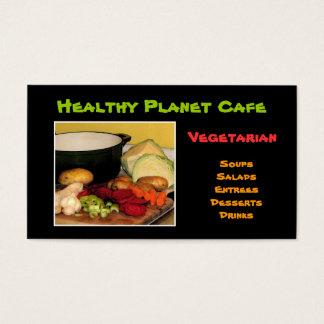 Vegetarian Restaurant Business Card