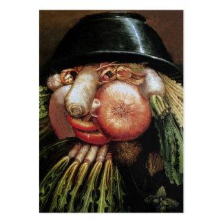 Vegetarian Restaurant, Organic Farm, Health Food Large Business Cards (Pack Of 100)