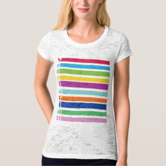 Vegetarian Retro Stripe T-Shirt