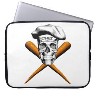 Vegetarian Skull and Carrots Computer Sleeves