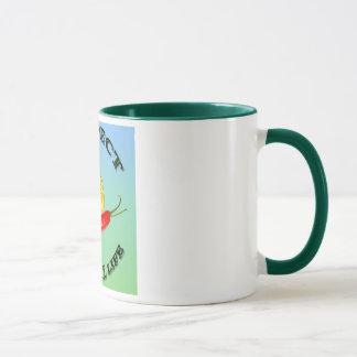 Vegetarian snail colorful background mug