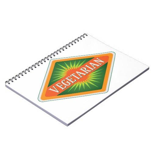 Vegetarian Spiral Note Book