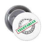 Vegetarian Stamped Button