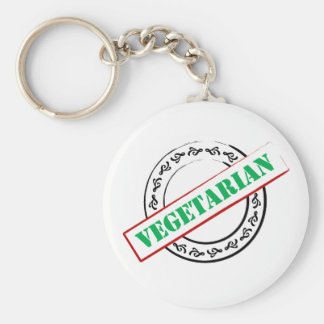 Vegetarian Stamped Keychain