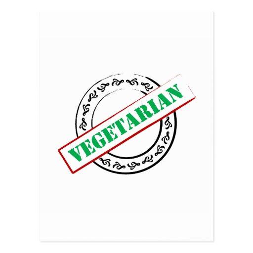 Vegetarian Stamped Post Card