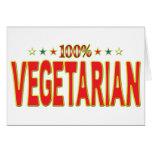 Vegetarian Star Tag Greeting Cards