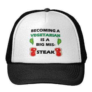 Vegetarian Steak Full Trucker Hat