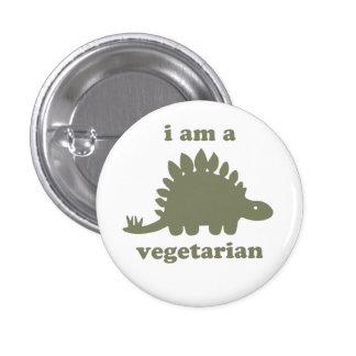 Vegetarian Stegosaurus Dinosaur - Green Buttons