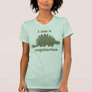 Vegetarian Stegosaurus Dinosaur - Green T-Shirt