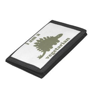 Vegetarian Stegosaurus Dinosaur - Green Wallet