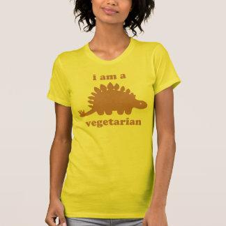 Vegetarian Stegosaurus Dinosaur - Pink T-Shirt