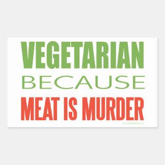 Vegetarian Rectangular Sticker