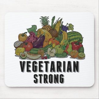 Vegetarian Strong Mouse Pad