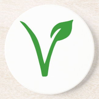 Vegetarian symbol coaster