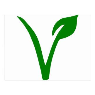 Vegetarian symbol postcard