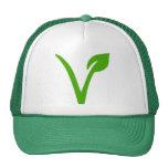 vegetarian symbol,vegetarians,veggie, trucker hat