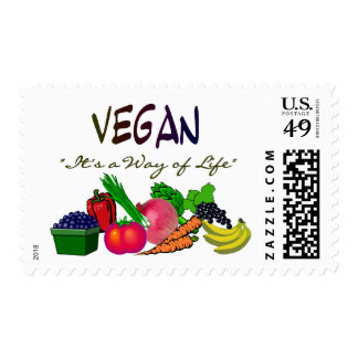 Vegetarian T-Shirts/Gifts Postage Stamps
