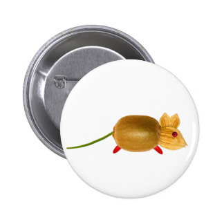 Vegetarian to mouse, ideal add, your own text. pin redondo 5 cm