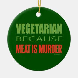 Vegetarian, Vegan, Animal RIghts Ceramic Ornament