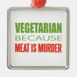 Vegetarian, Vegan, Animal RIghts Christmas Tree Ornament
