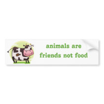 vegetarian vegan bumper sticker