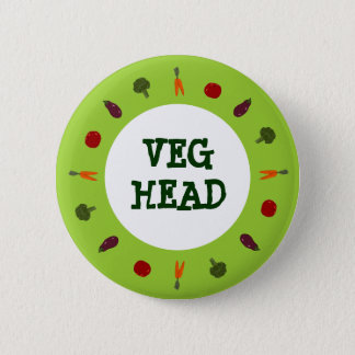 Vegetarian/Vegan Colorful Veggies Button