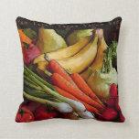 Vegetarian Vegan Fruits Vegetables Pillow