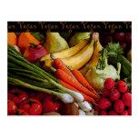 Vegetarian Vegan Fruits Vegetables Post Cards