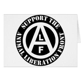 Vegetarian Vegan Support Animal Liberation Front Card