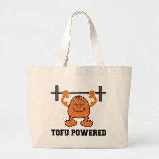 Vegetarian Vegan Tofu Powered Large Tote Bag