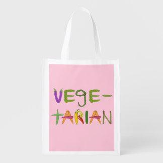 Vegetarian Vegetables Reusable Grocery Bag
