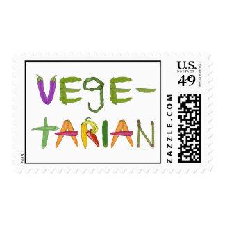 Vegetarian Vegetables Veggie Lovers Stamps