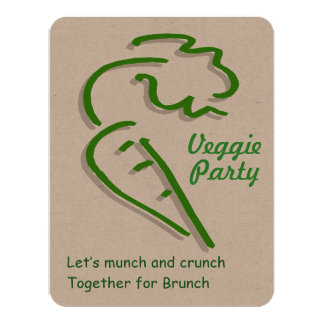 Vegetarian Veggie Party Invitation